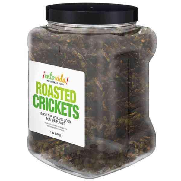 Whole Roasted Cricket Snacks