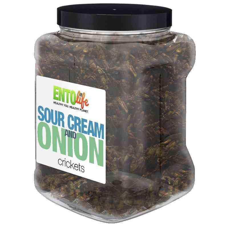 Sour Cream & Onion Flavored Cricket Snack