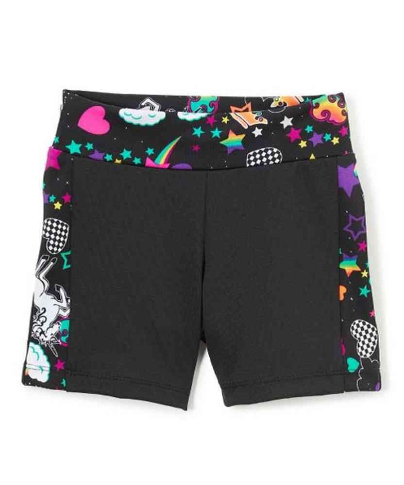 Side Strip Pattern Bike Shorts