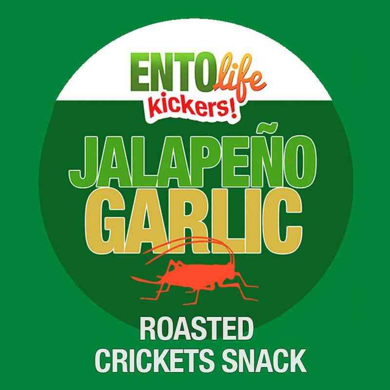 Jalapeno Garlic Flavored Cricket Snack
