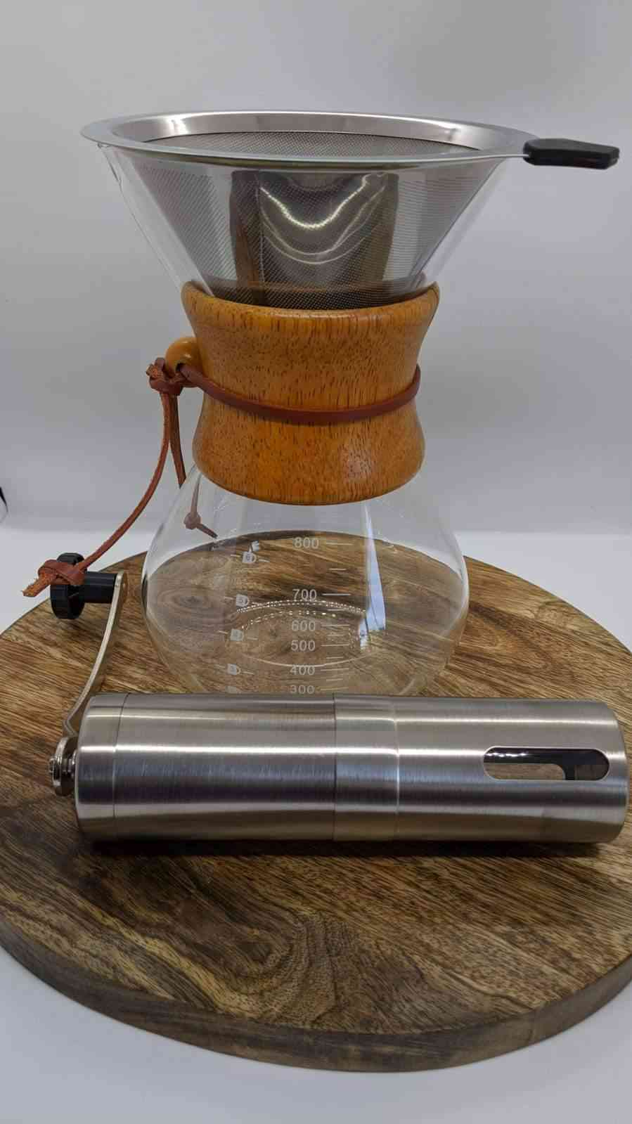 Stainless Steel Filter Handheld Coffee Grinder Pot