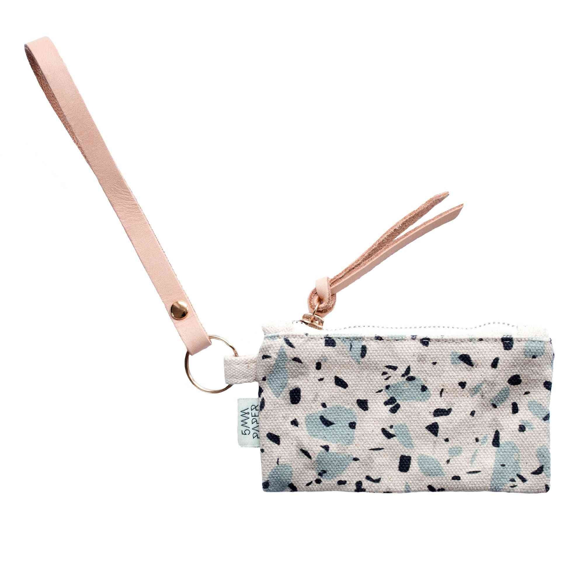 Multi-purpose Leather Key Chain With Pouch