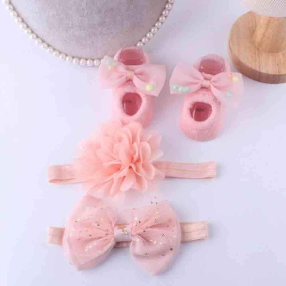 Baby Girl Set- Socks And Headbands