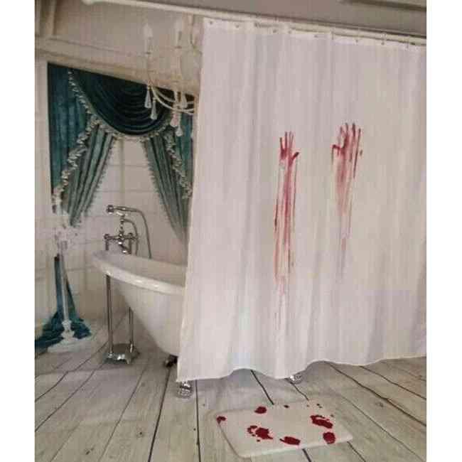 Bloody Palm Design Shower Curtain