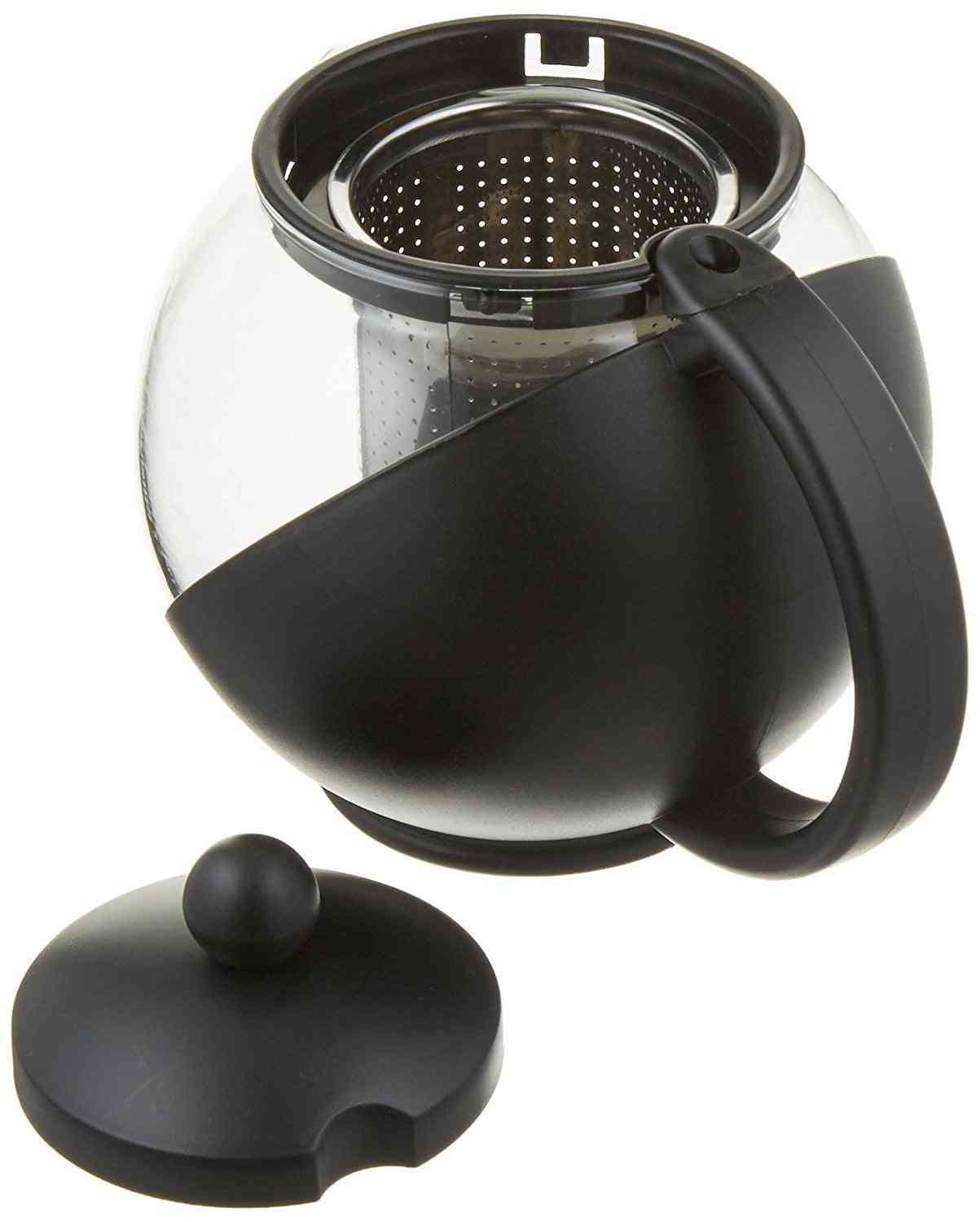 Tempered Glass Tea Pot With Removable Steel Infuser