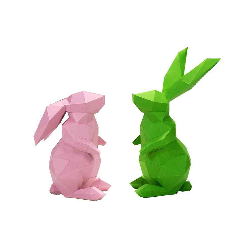 3d Bunny Shaped Paper Craft Model