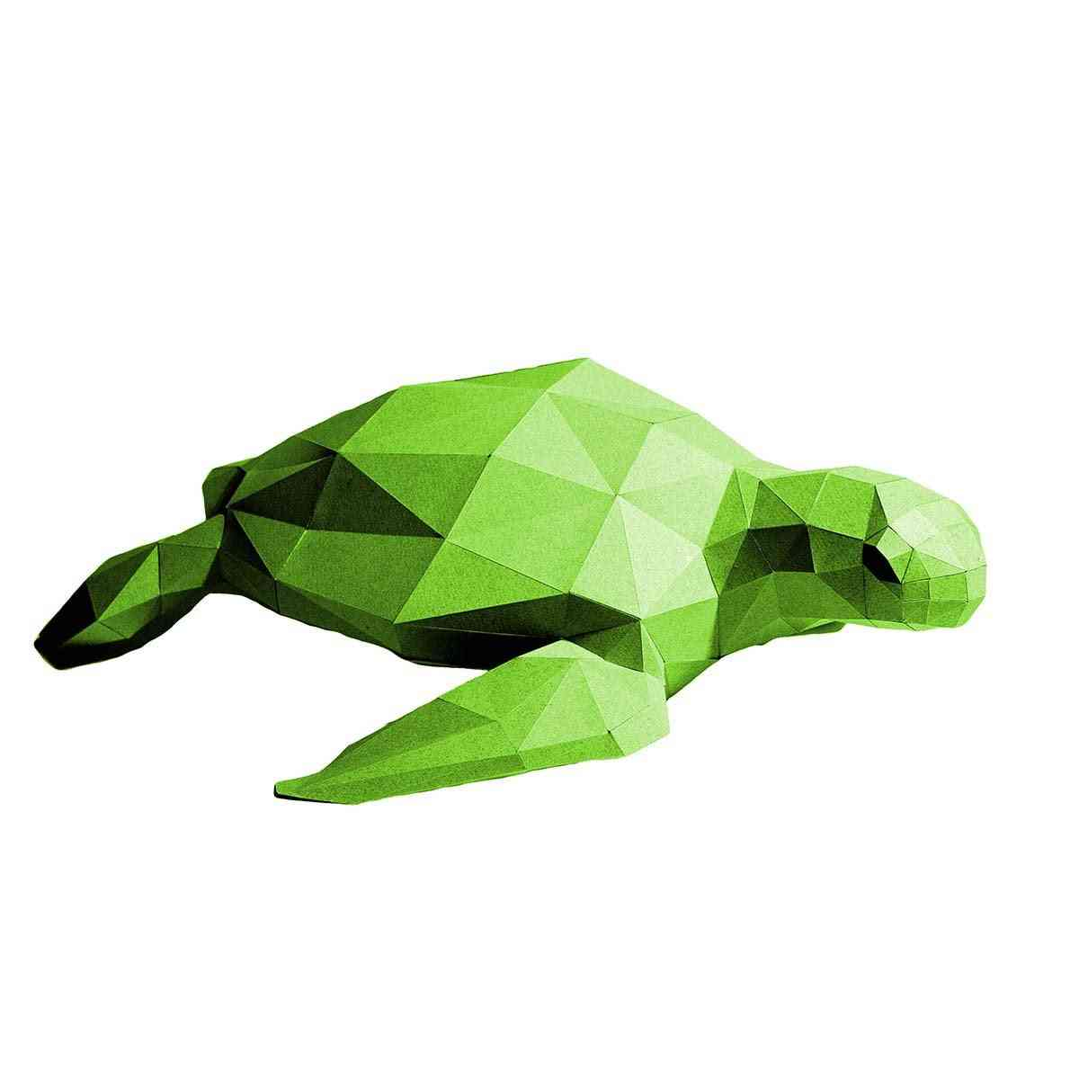 Sea Turtle 3d Paper Model
