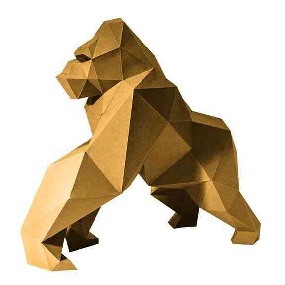 3d Paper Craft Gorilla Model