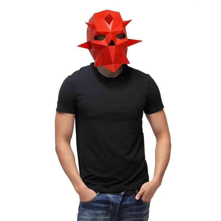 3d Paper Craft Dark Knight Mask