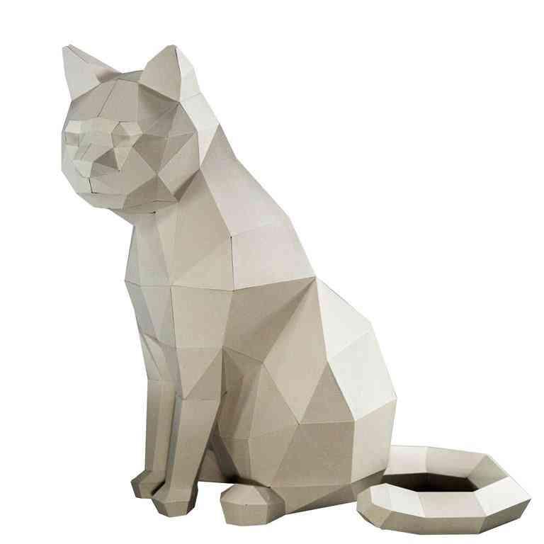 3d Paper Craft Cat Model