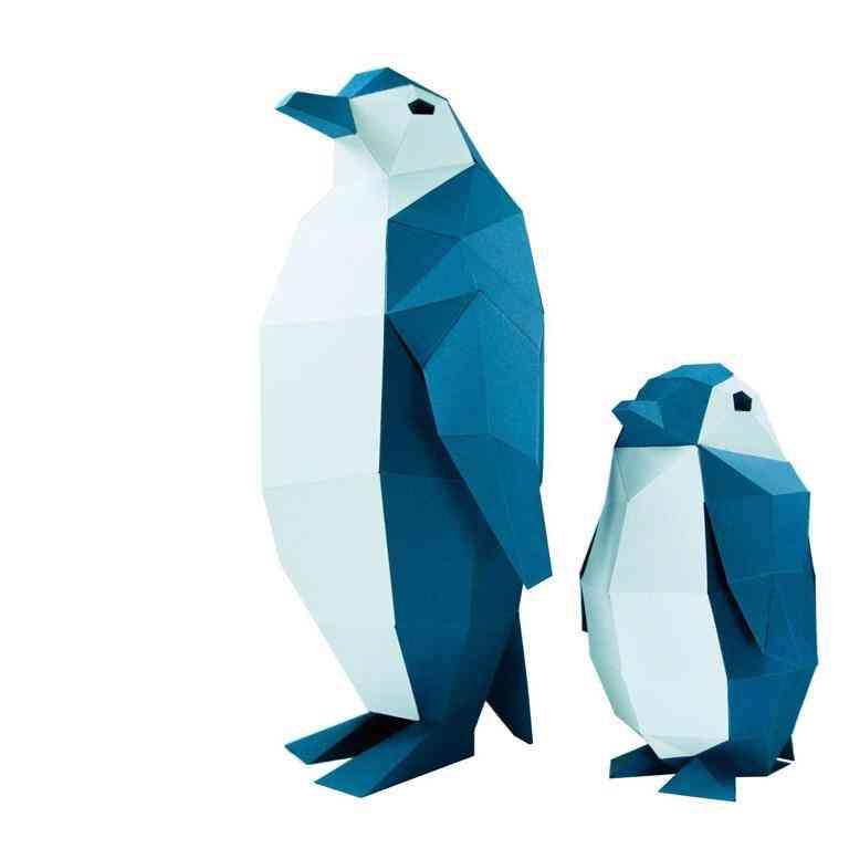 3d Paper Craft Penguin Model