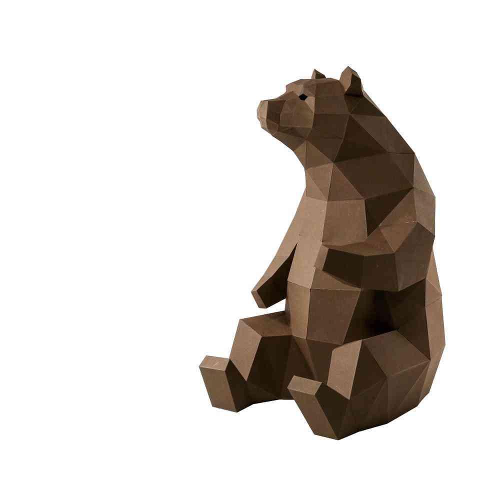 Bear Design 3d Paper Model
