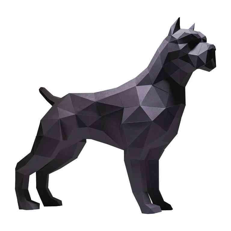 Pitt Bull 3d Paper Model