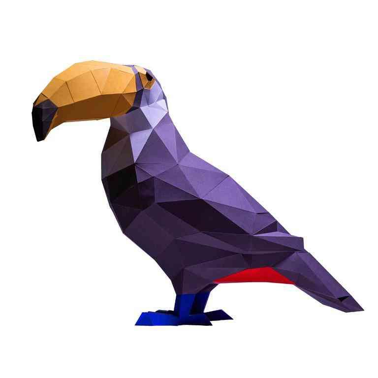 Toucan Bird 3d Paper Model