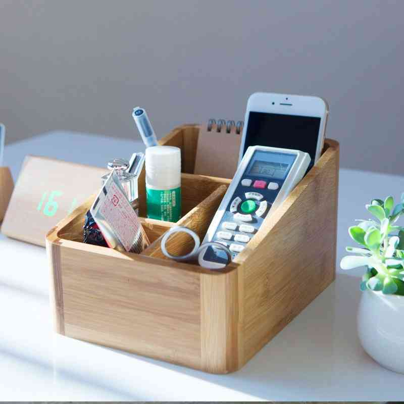 Wooden Remote Control Organizer And Holder