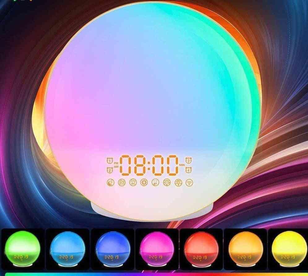 Smart Colorful Led Night Light Alarm Clock