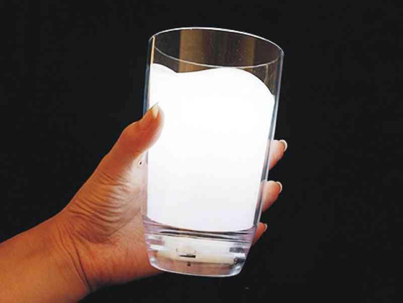 Milk Cup Glass Led Light