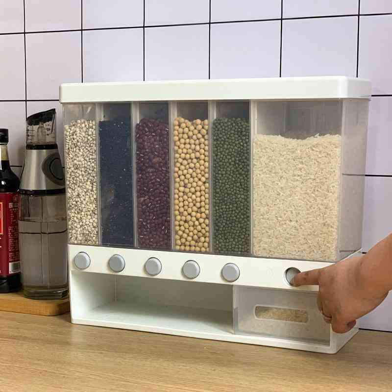 Wall-mounted Grain/cereal/rice Storage And Dispenser Box