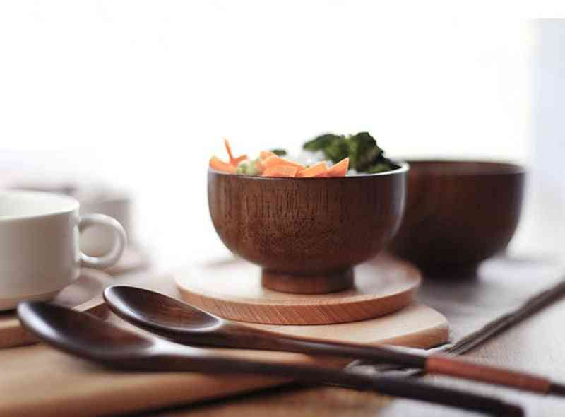 Wooden Rice Miso Soup Bowl