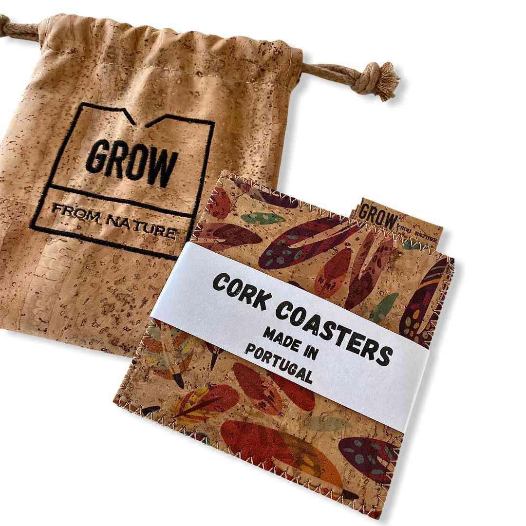 Premium  Cork Coasters 6 Pcs Pack Small Bag