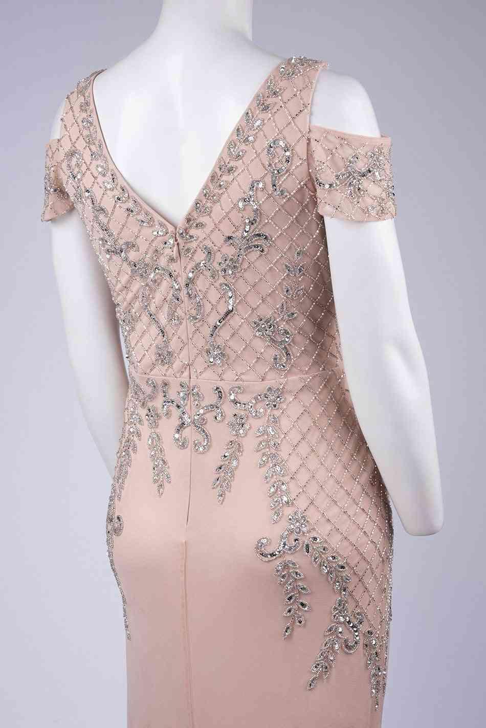 Sequin Cold Shoulder Gown