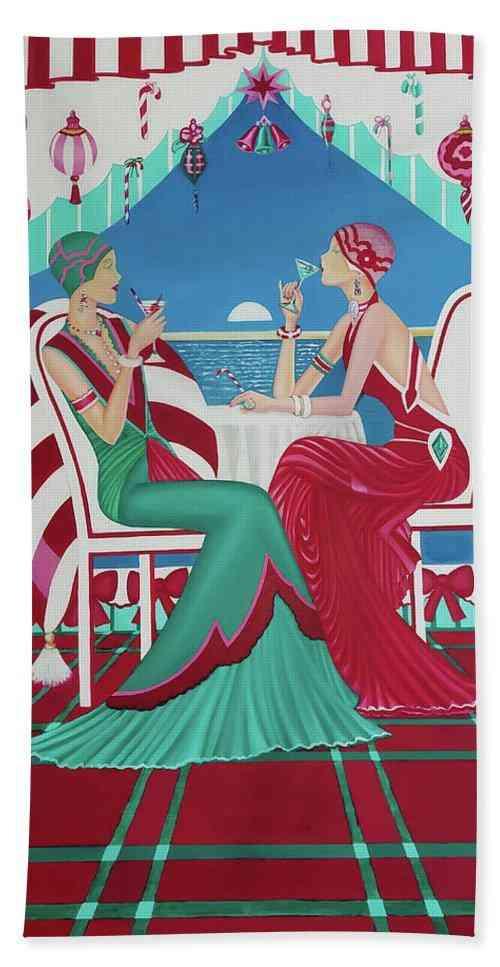 Christmas Cruisin Beach Towel