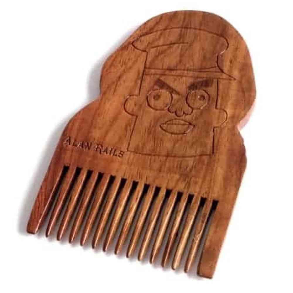 Rick & Morty Alan Rails Wooden Beard Comb