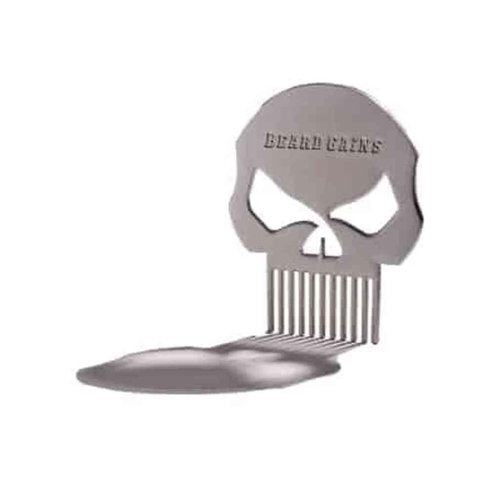 Punisher Metal Beard Comb