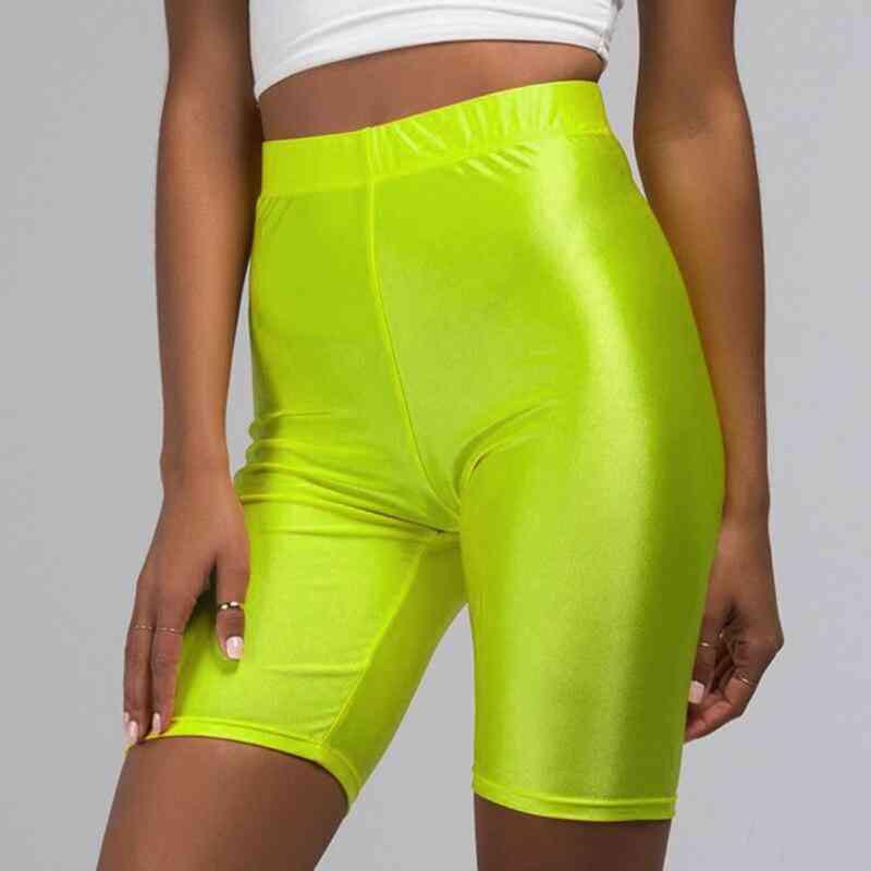 Elastic Biker High Shorts