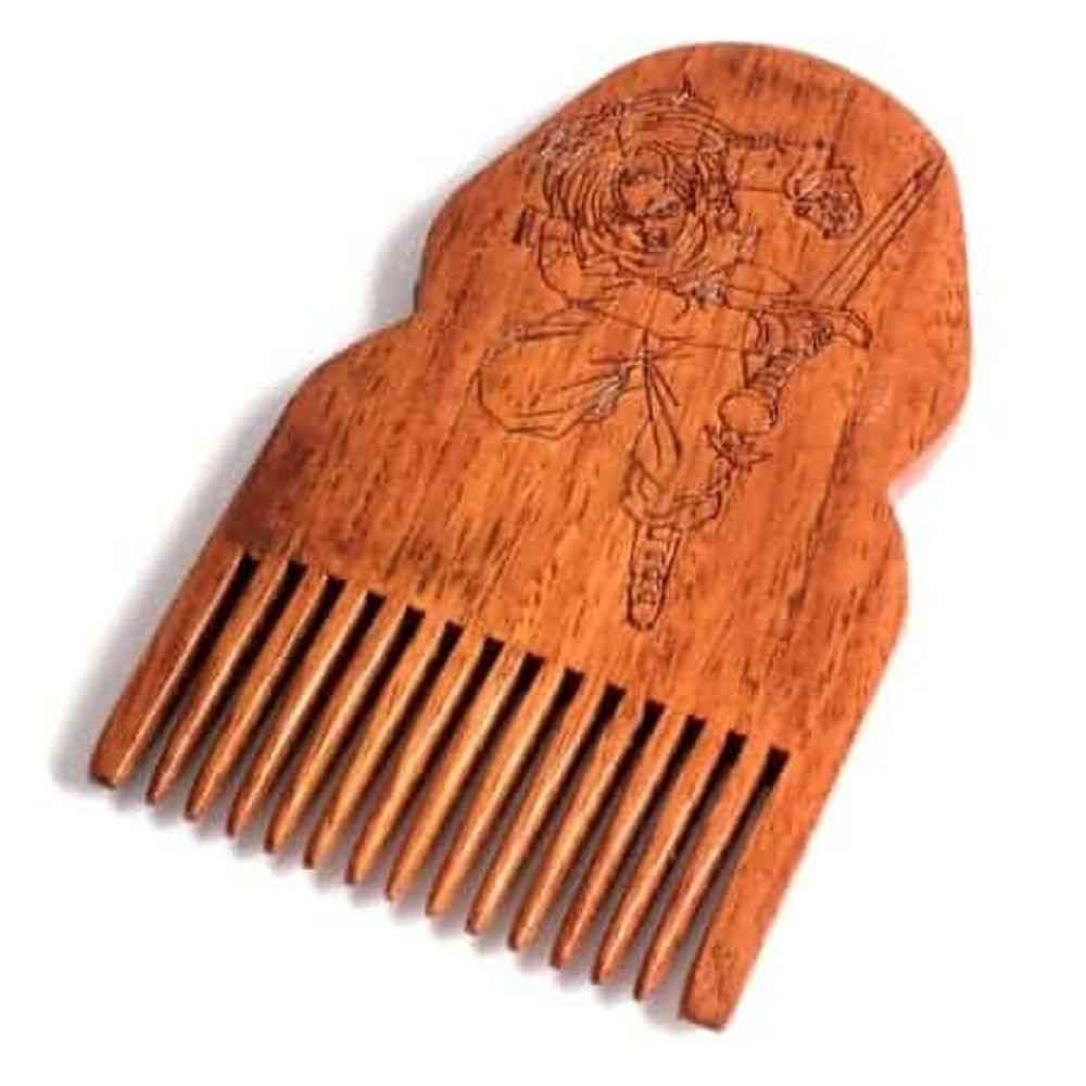 Dragon Ball Z Trunks Wooden Beard Comb