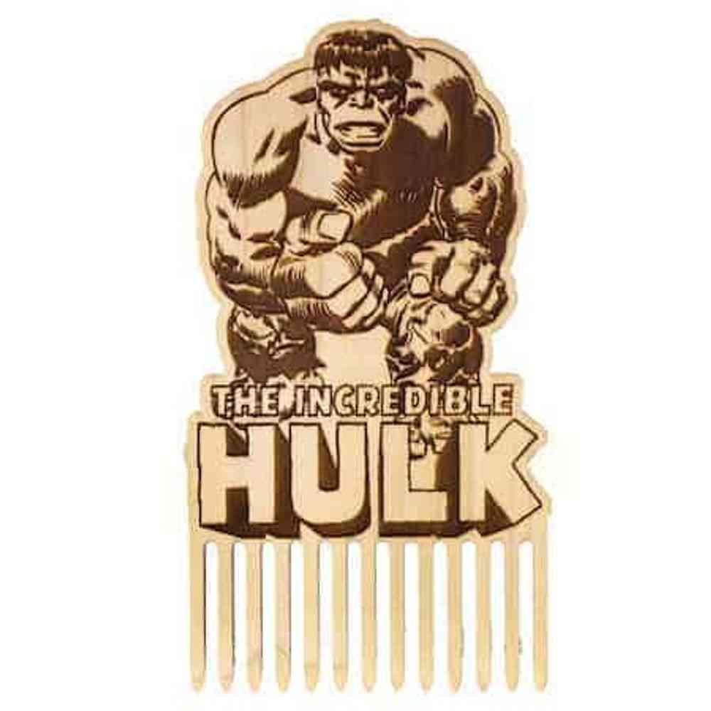 Incredible Hulk Wooden Beard Comb