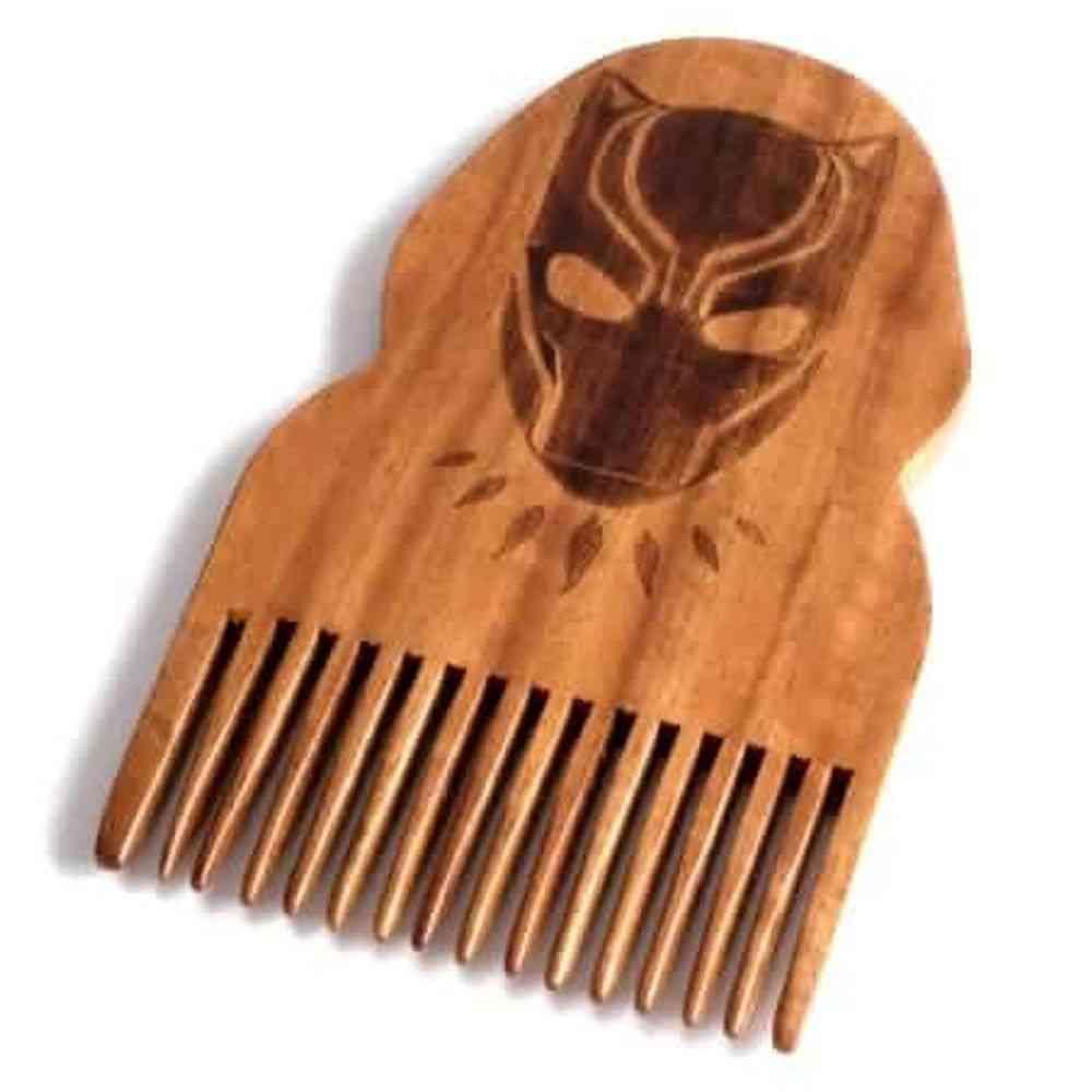 Black Panther Wooden Beard Comb