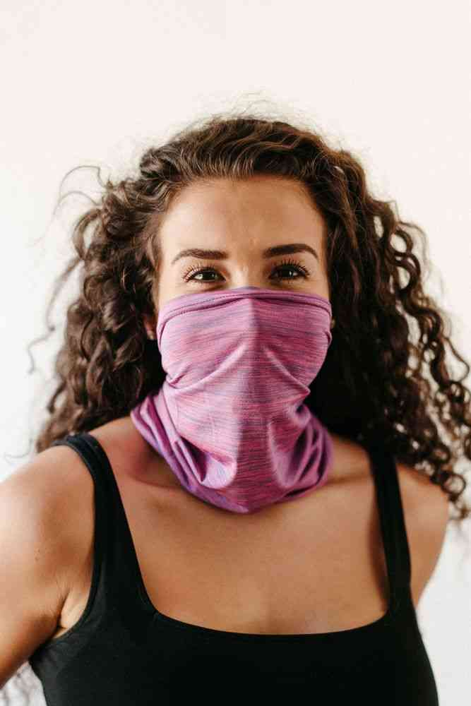 Pink Neck Warmer, Gaiter Mask