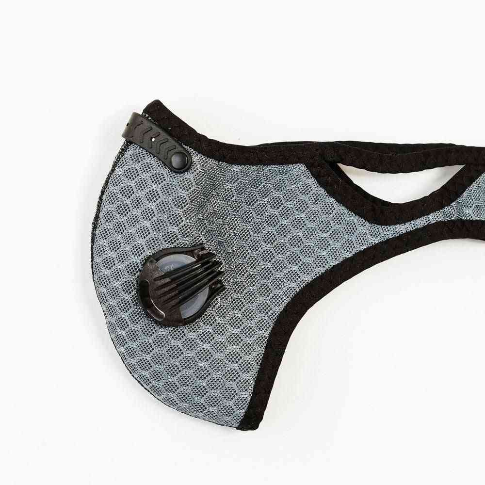 Gray Sports Face Mask