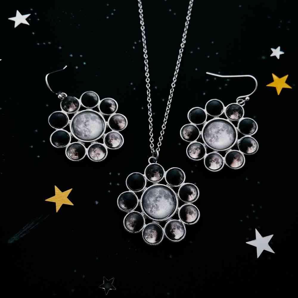Moon Phase, Halo Jewelry Set