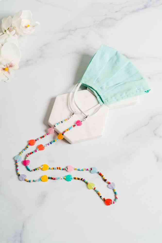Candy Heart Mask Necklace