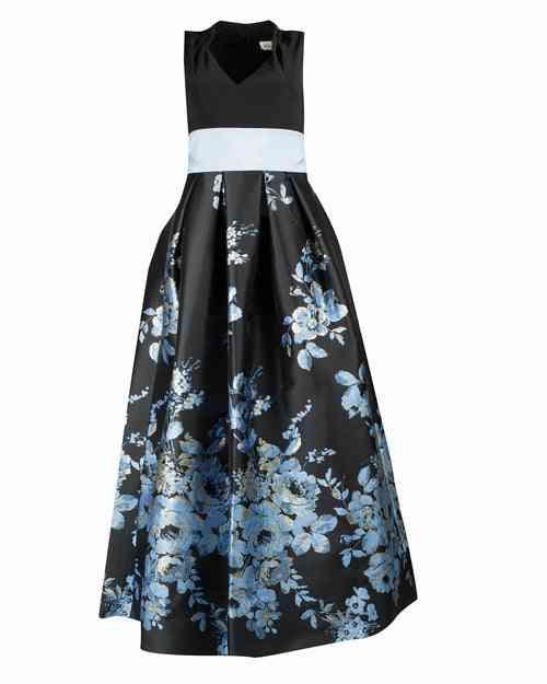 V-neck Sleeveless- Floral Print, Ball Gown Skirts