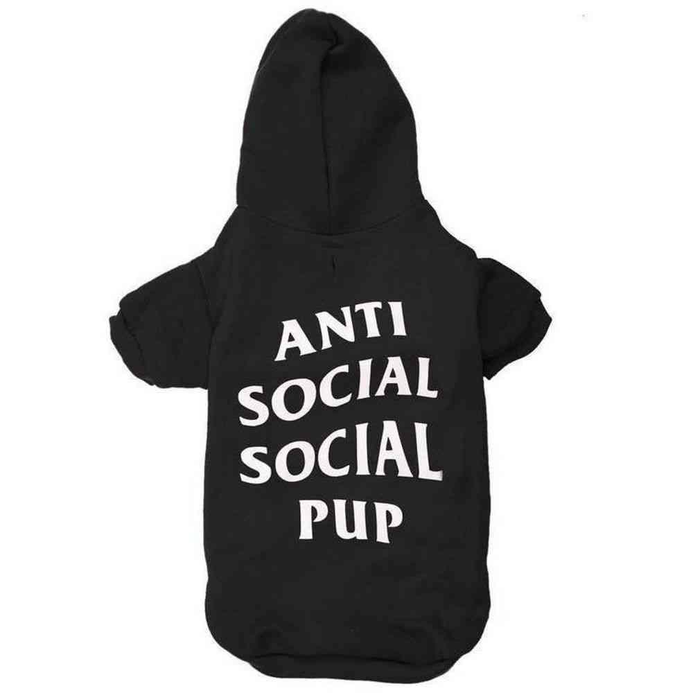 Anti Social Social Pup Hoodie   Dog Clothing