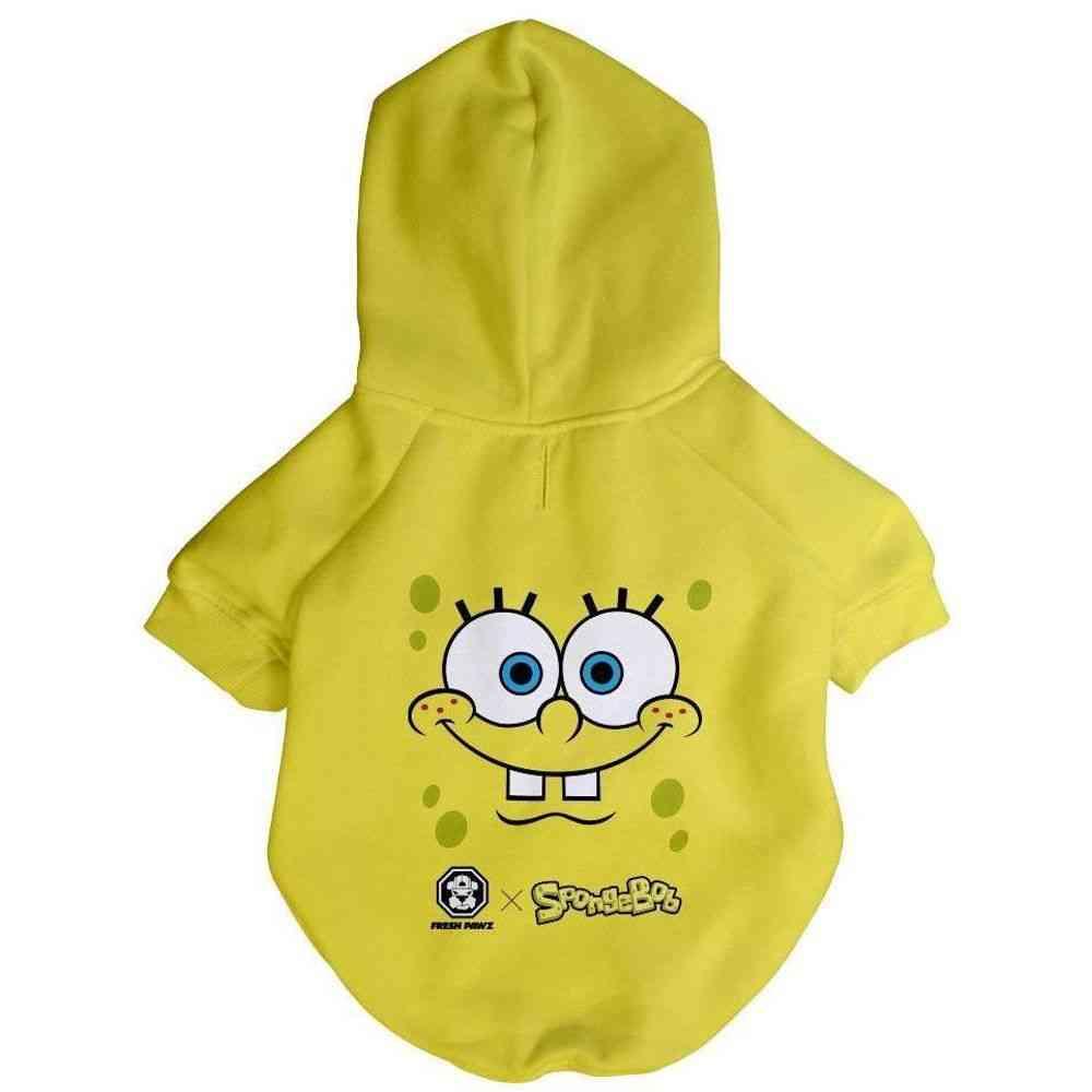 Spongebob X Fresh Pawz - Sb Face Hoodie - Dog Clothing