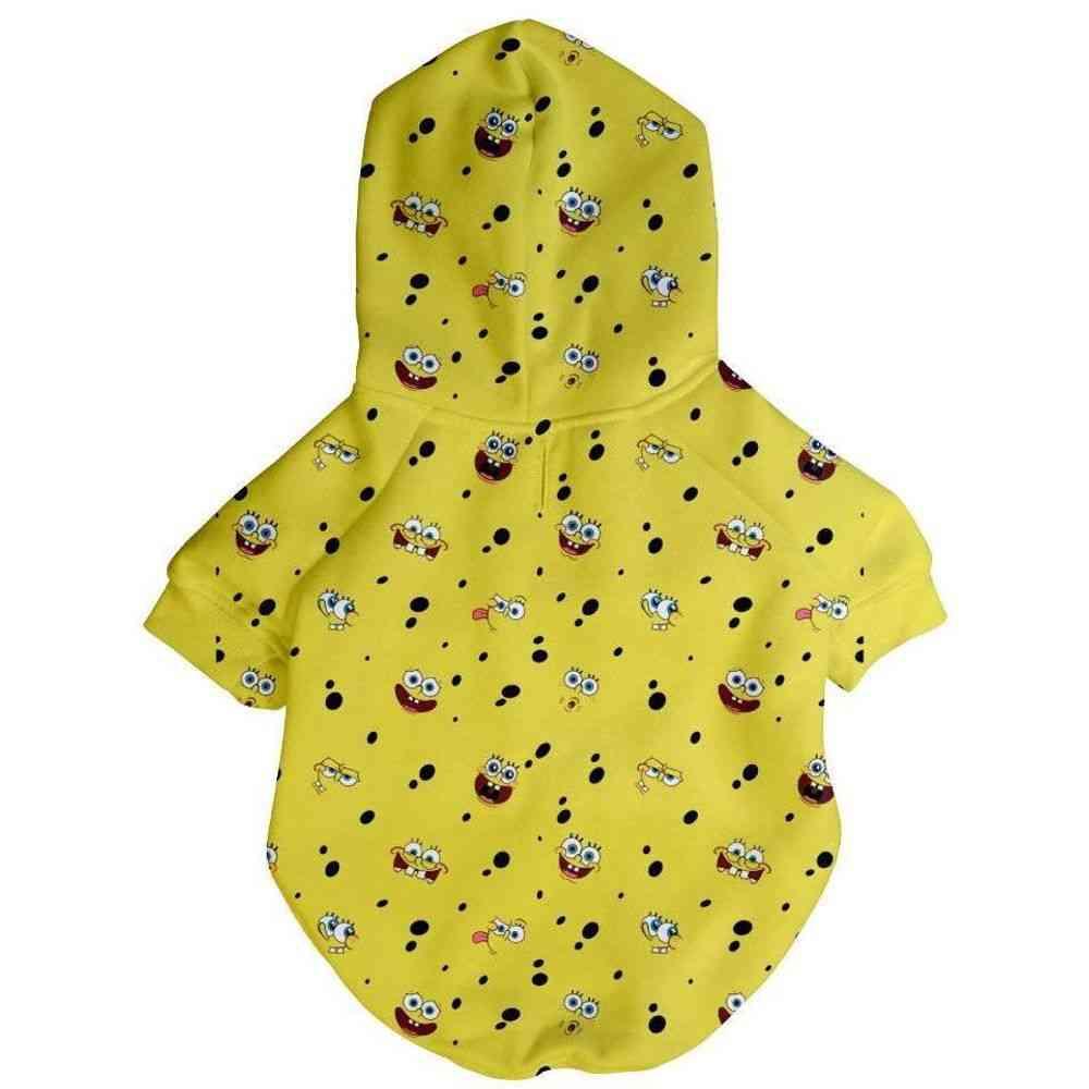 Spongebob X Fresh Pawz - Sb All Over Hoodie, Dog Clothing