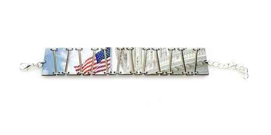 Capitol Building Flag Bracelet #7546