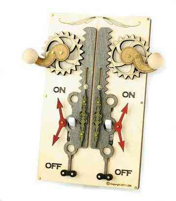Double Rack & Pinion Switch Plate-natural Wood