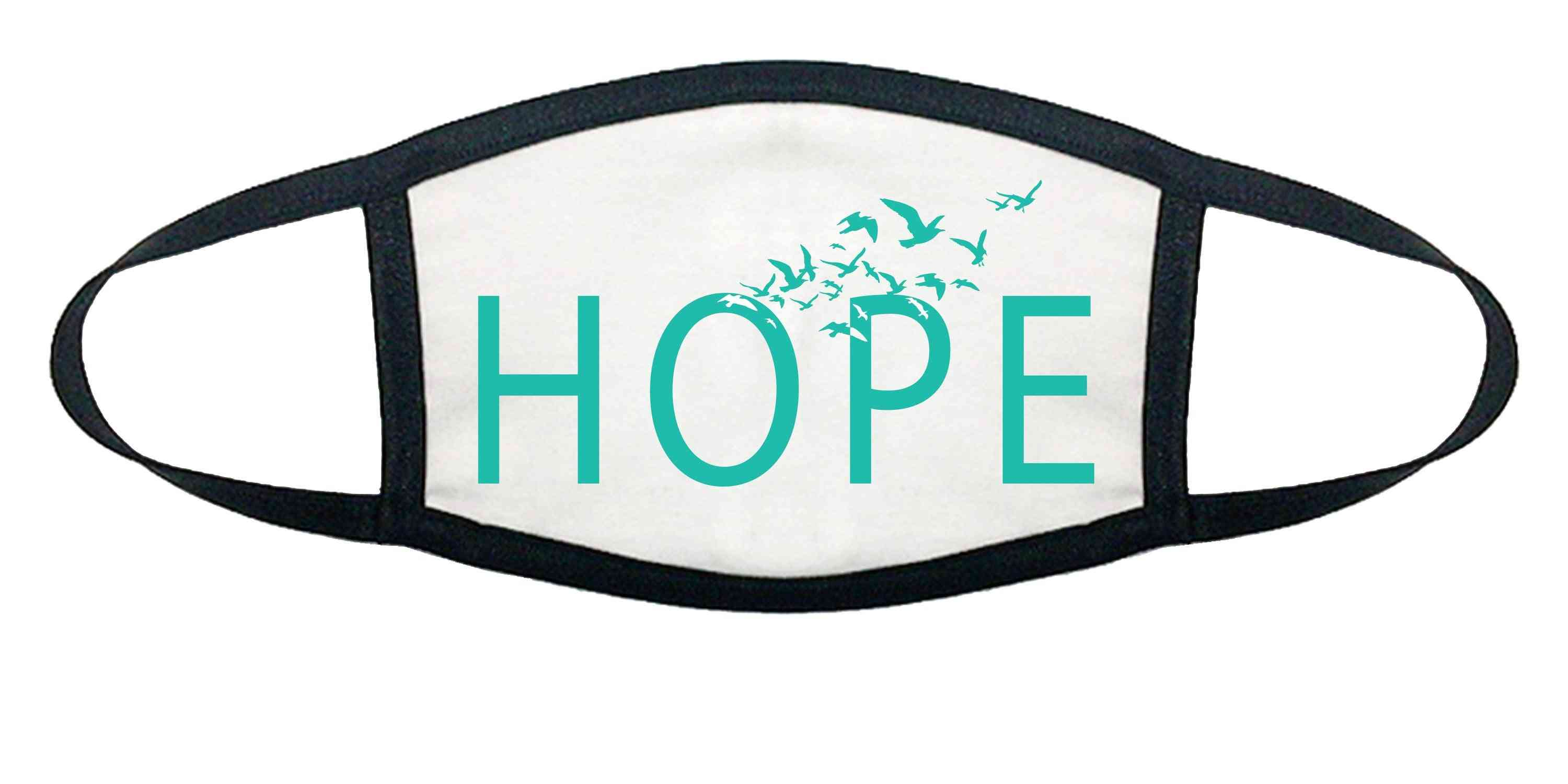 Hope Printed, Cotton Face Mask