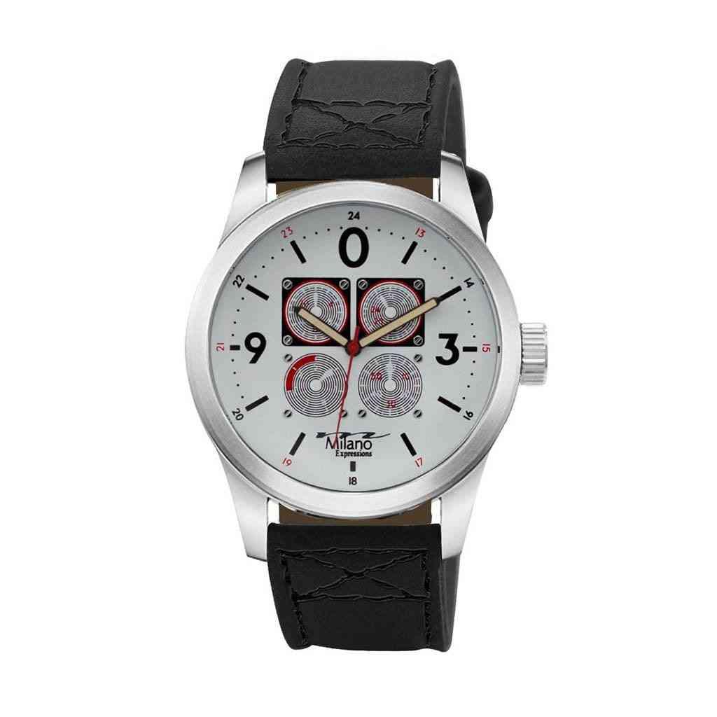 Vegan Leather Strap Watch