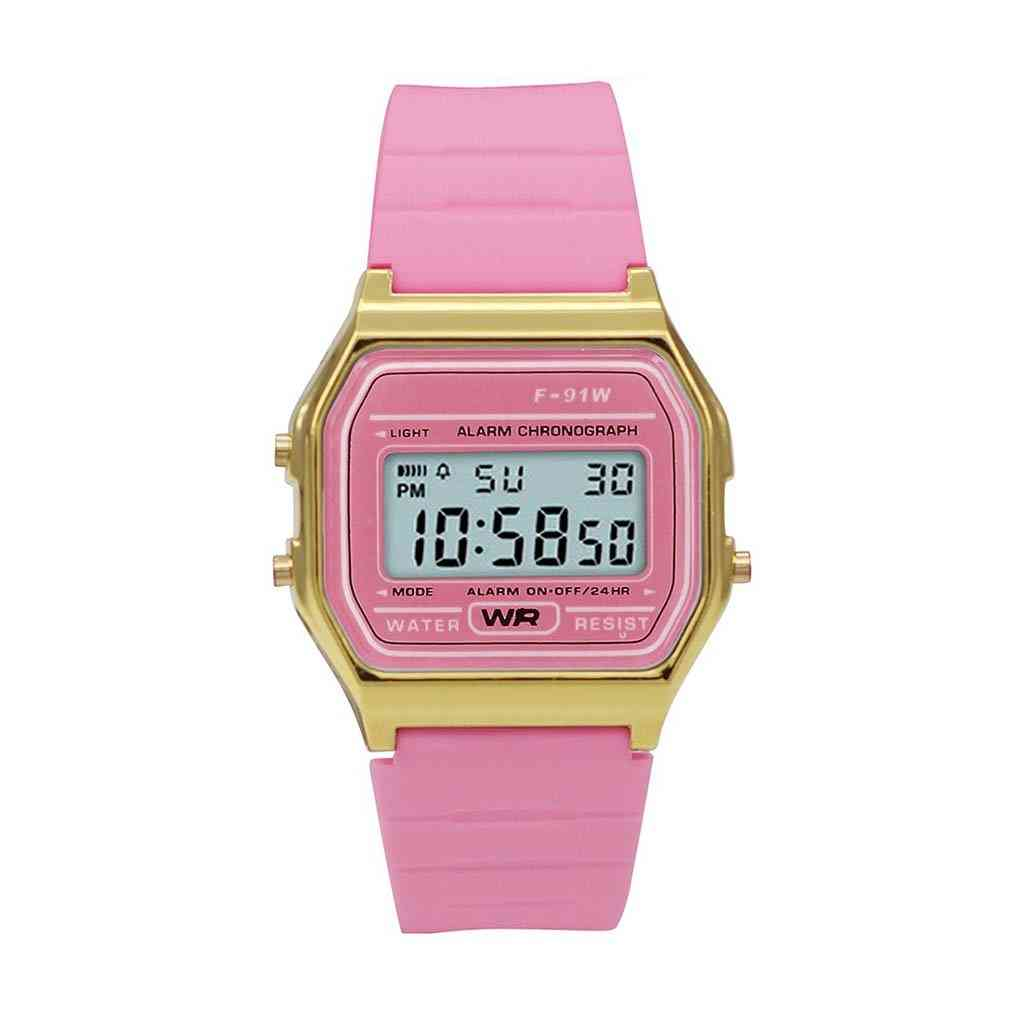 Sporty Pink Silicon Digital Watch