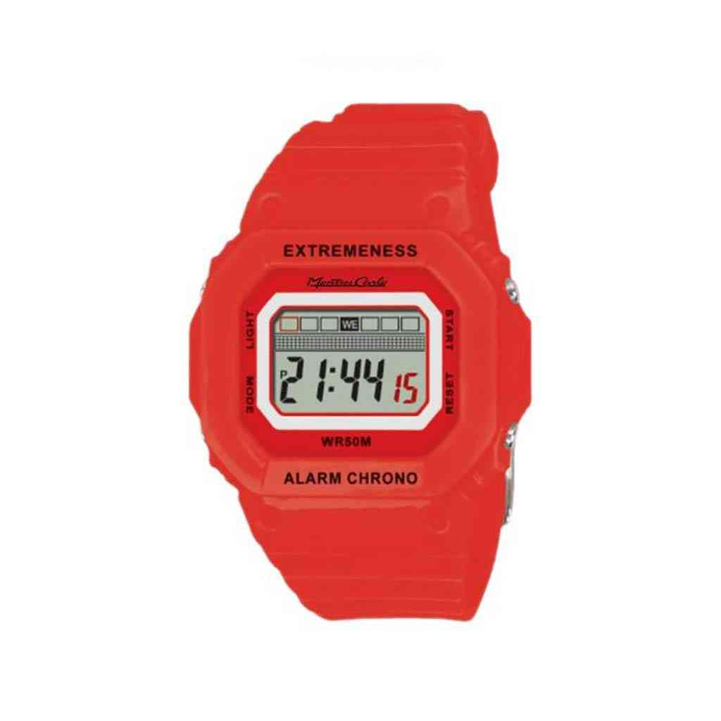 Lcd Digital Watch With Silicon Strap