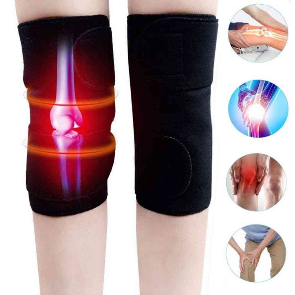 Self Heating Magnetic Knee Brace Therapy Support Belt