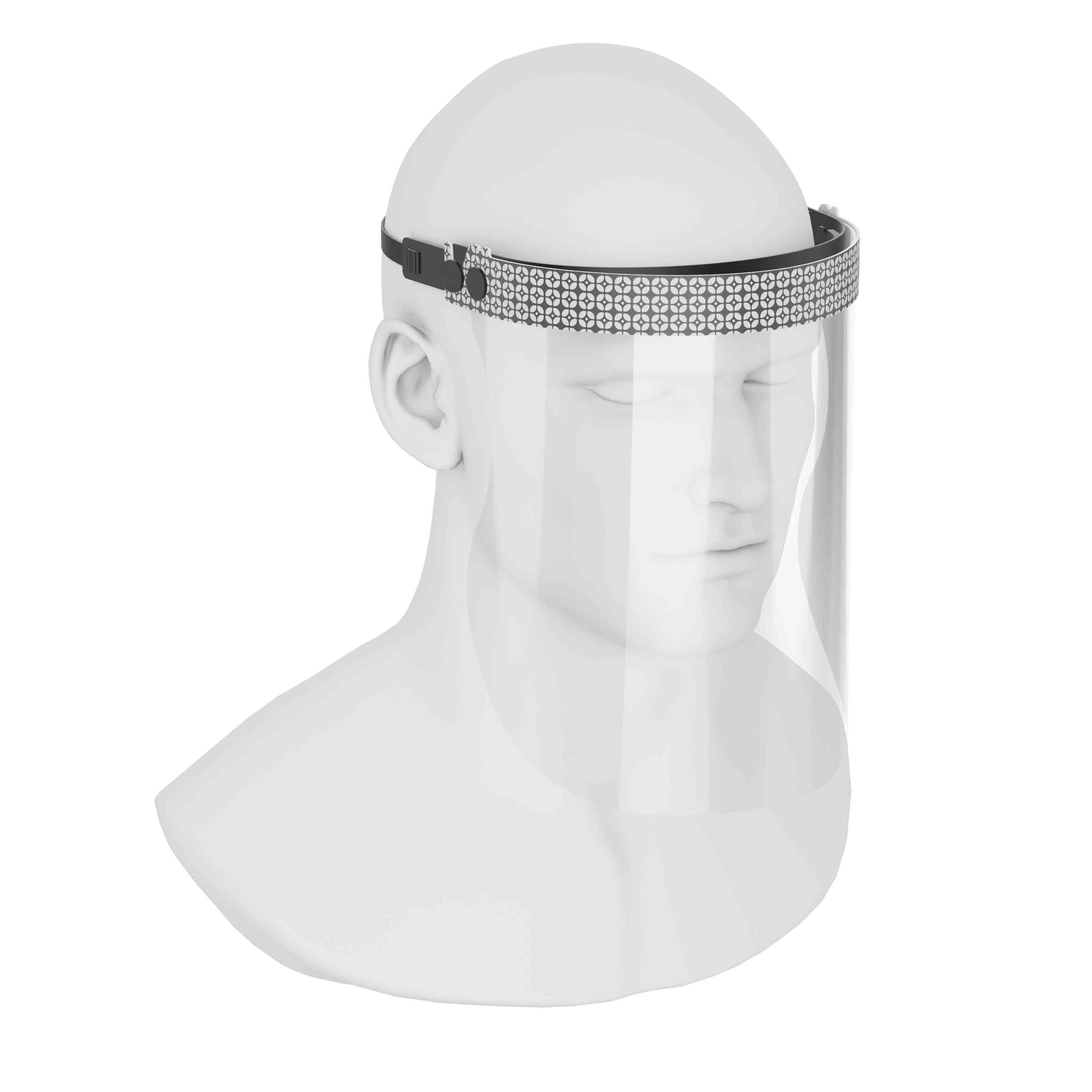 Isolay Face Shield White Dots