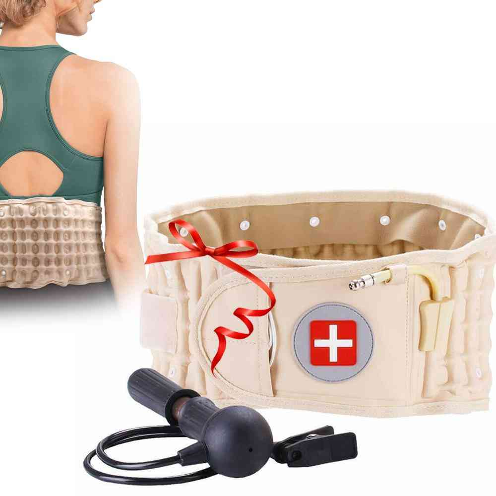 Back Decompression Waist Belt, Lumbar Inflatable Traction Protector