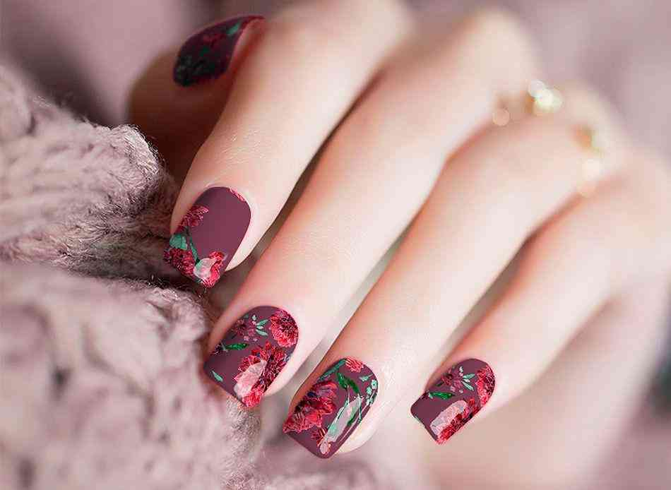 Roses Pattern Nail Wraps Stickers